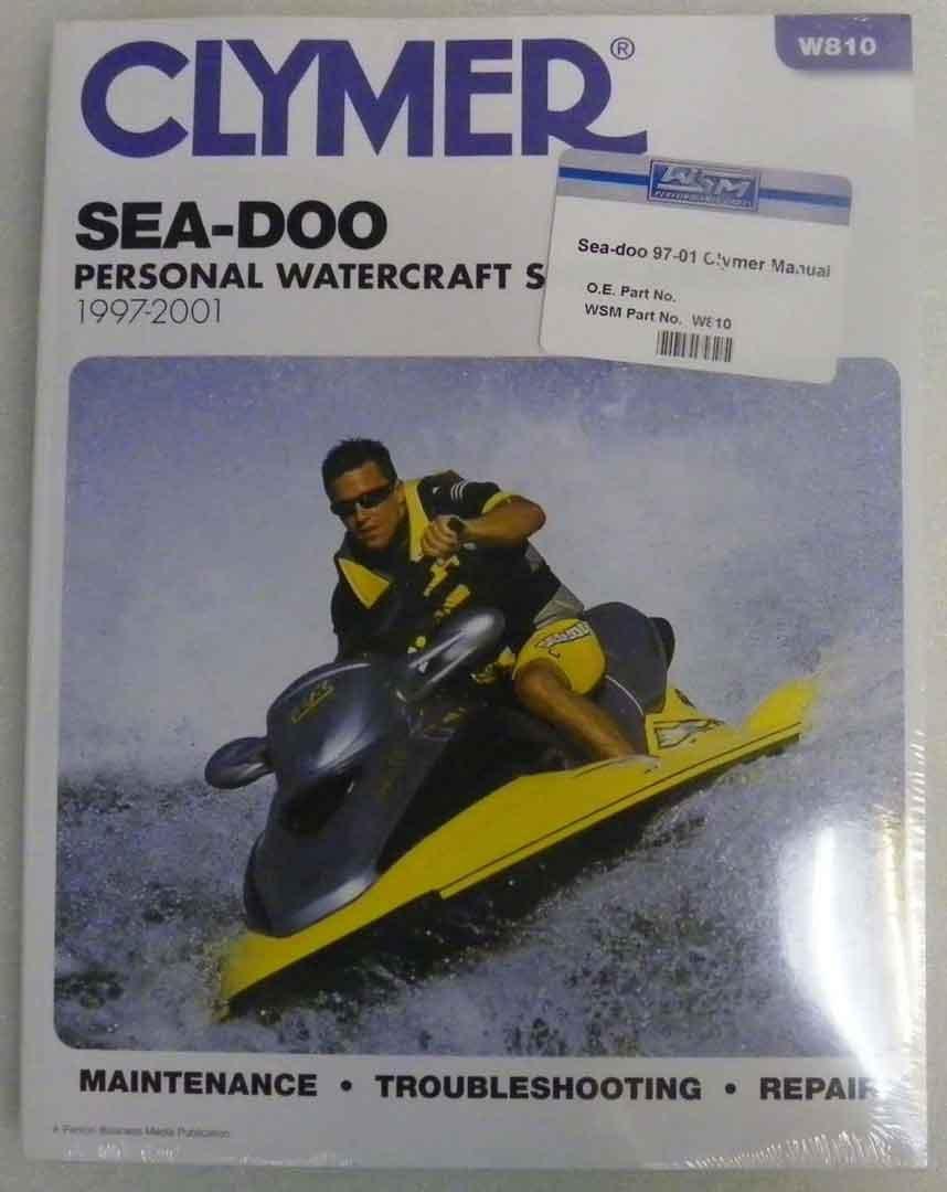 Amazon.com: Sea Doo Clymer Manual 1997-2001 Model:GS,GSI,GSX Series,GTI,GTS,GTX  Series,HX,LRV,RX Series,SP,SPX,XP 450 pgs/Trim Size 8.25 x 10.875 WSM W810:  ...