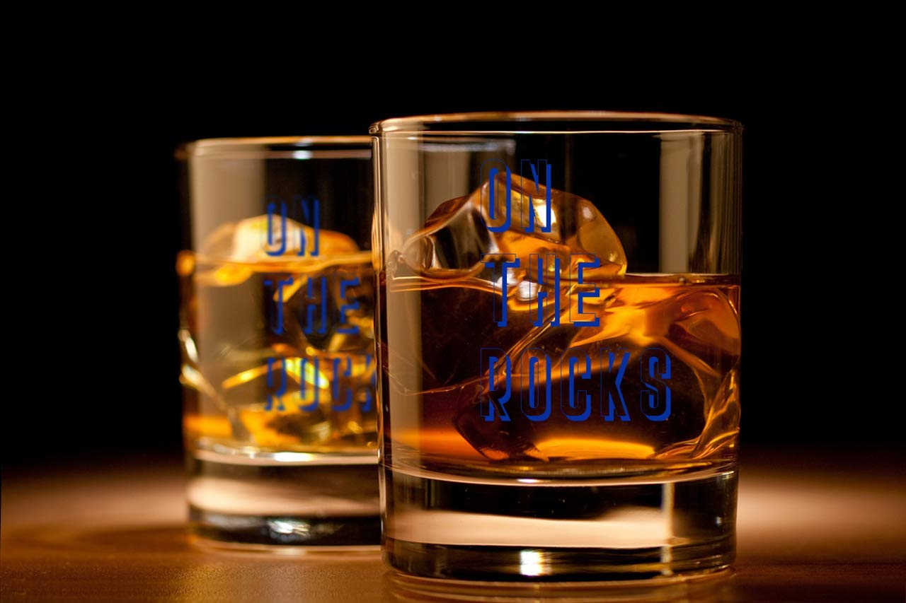 Unique Birthday Gift Presents Best Friend Dad Son Husband Mom Wife SODILLY On the Rocks Whiskey Glass Funny Lowball Whiskey Glasses Gifts Men Women 11 oz Unique Bourbon Scotch Rocks Bar Cups