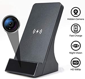 LIZVIE Wireless Spy Camera WiFi Hidden Camera with Phone Charger 1080P Security Cameras Nanny Cam with Motion Detection, Phone Remotely Monitoring/Support 2.4GHz WiFi Night Vision Nanny Camera