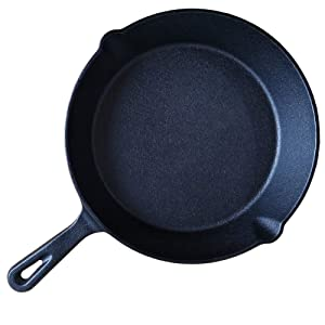 HAWOK Cast Iron Skillet 10 inch Cast Iron Pan For Frying Cooking Baking On Induction Electric Gas and In Oven