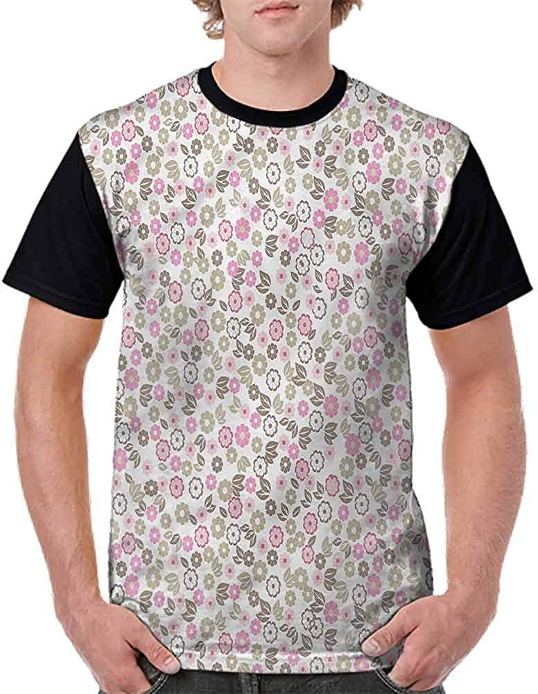 Performance T-Shirt,Autumn Wildflowers Country Fashion Personality Customization