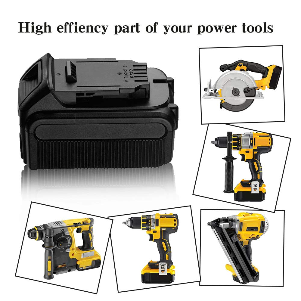 Eagglew 5600mah For Dewalt 20v Max Xr Battery Replacement