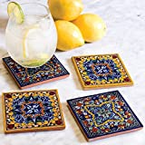 Casablanca Hand Painted Tile Coasters