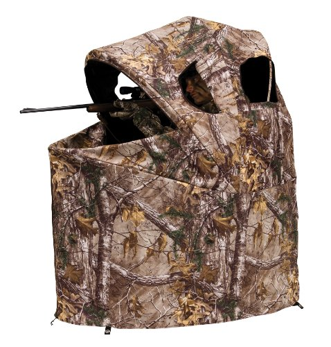 Portable Shooting Chair - Ameristep Tent Chair Easy Fold Over Ground Blind, Realtree Xtra