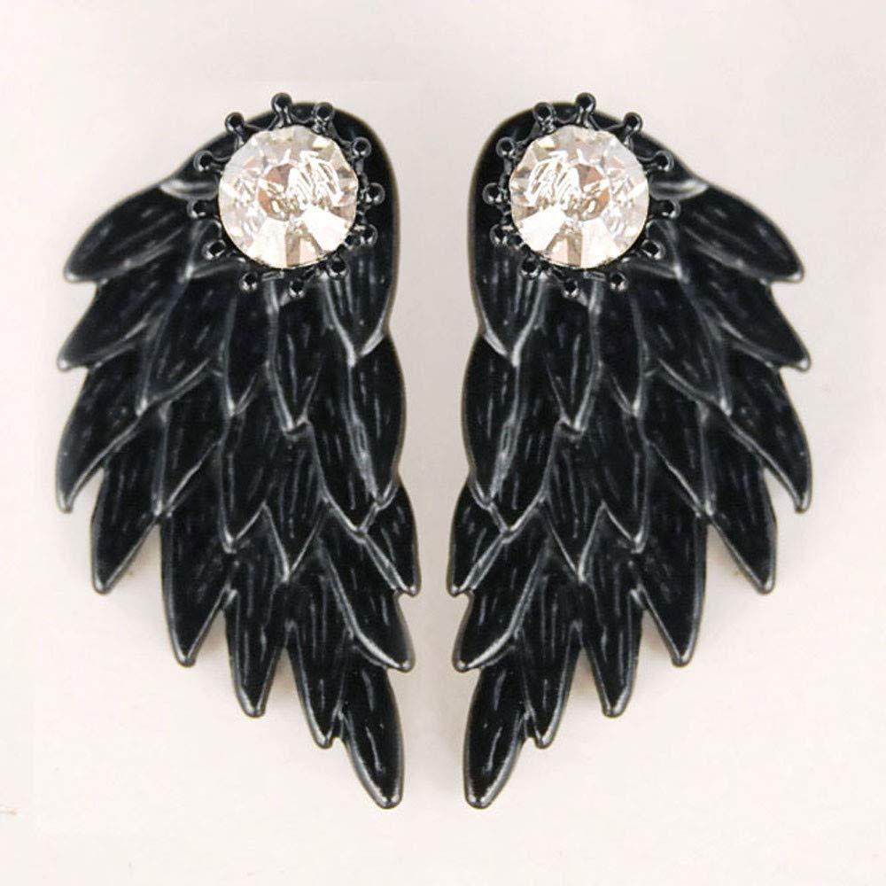 Women's Cool Jewelry Angel Wings Rhinestone Alloy Drop Stud Earrings Hanican, A by Hanican (Image #2)