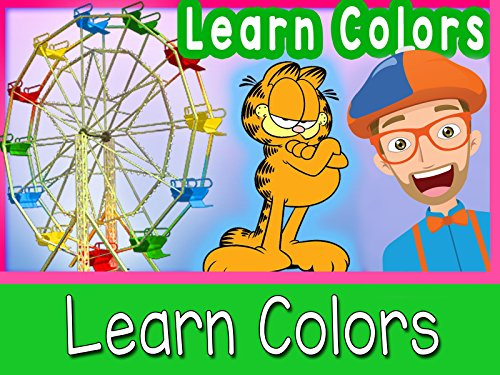 Learn Colors for Toddlers - Blippi At A Theme Park (Show Video)