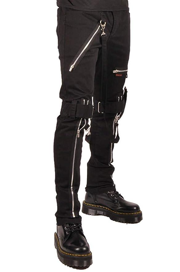 Men's Steampunk Pants & Trousers Tripp Strap Zipper Bondage Pants $84.99 AT vintagedancer.com