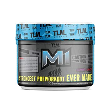 Amazon Com Tlm Research M1 World S Strongest Pre Workout 400mg