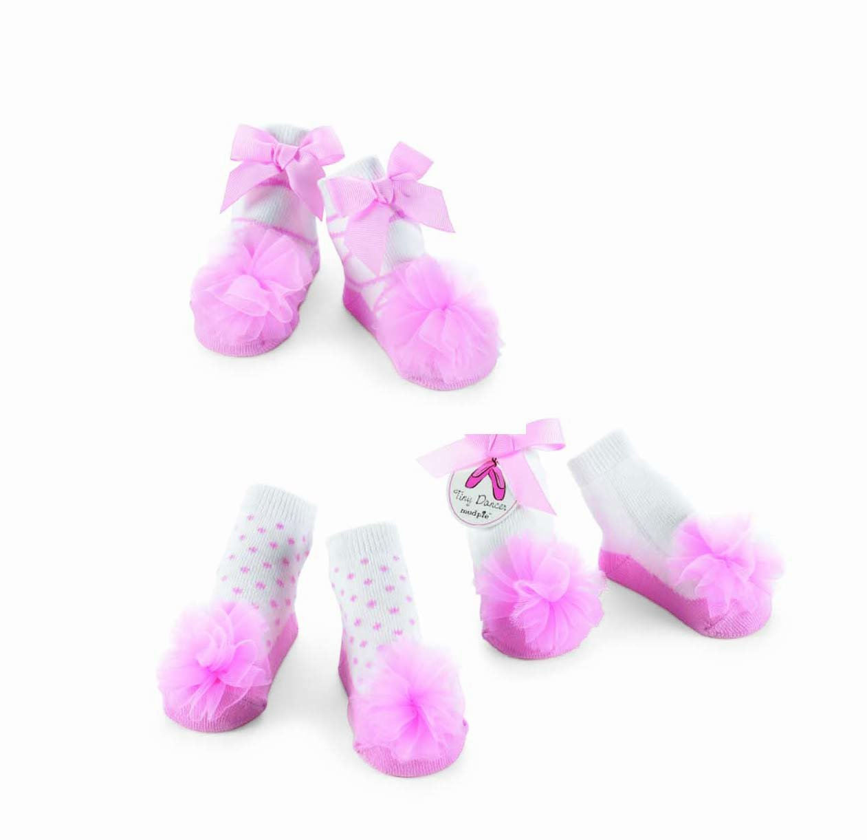 Mud Pie Baby TINY DANCER SOCK SET OF 3 173738 Tiny Dancer Collection by Mud Pie