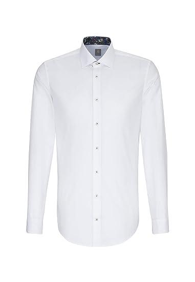 Jacques Britt Herren Business Hemd Slim Fit Extra Langer Arm Kent-Kragen  Bügelleicht  Amazon.de  Bekleidung fcd7b564ee