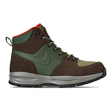 02d4f9488809 Nike Mens Air Manoa Boots Army Olive Baroque Brown BQ3380-300 Size 8