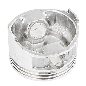 sourcingmap® conexiones del compresor de aire del cilindro de pistón 168 de motor de 70mm de diámetro Tono Plata: Amazon.es: Coche y moto