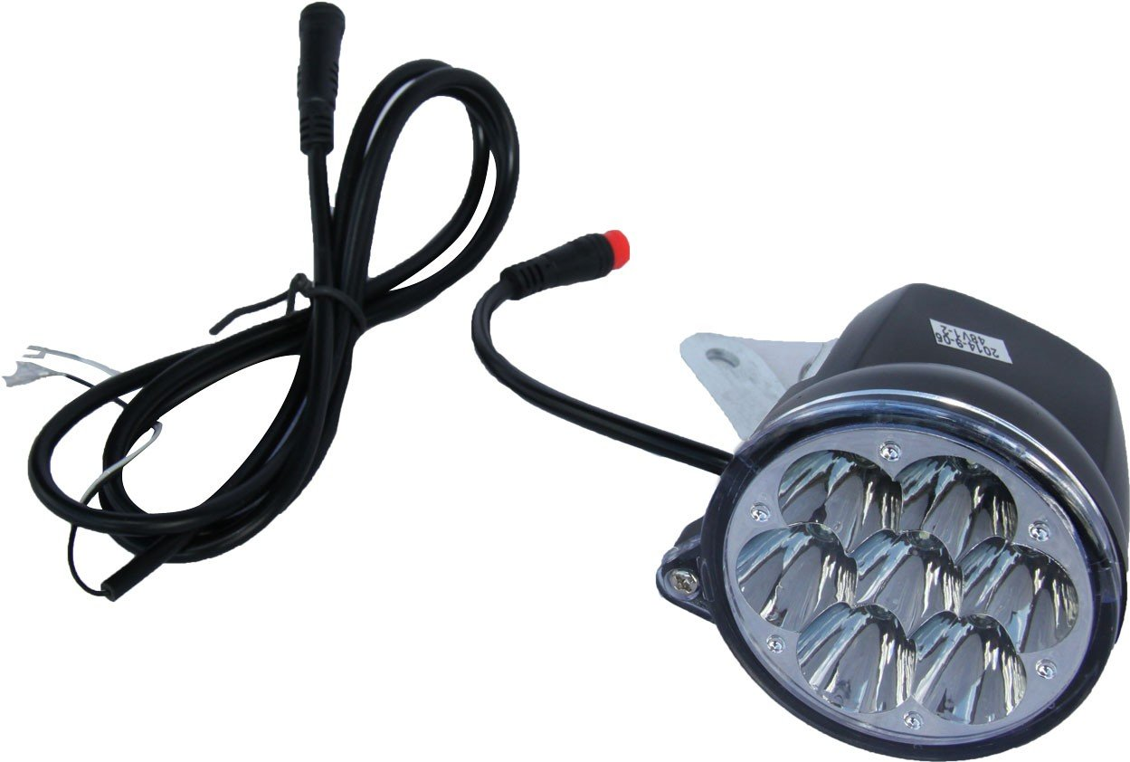 SXT Scooter LED Vorderlicht, Frontlicht 36V schwarz Ersatzteil Elektroroller SXT Scooters