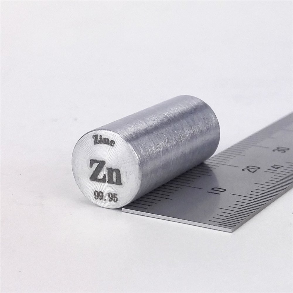 Zinc Metal Rod 99.95% 11grams 10diameterx20mm length Element Zn specimen Chinaium