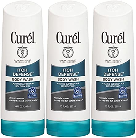 Curel Itch Defense Body Wash, 10 Ounce Pack of 3