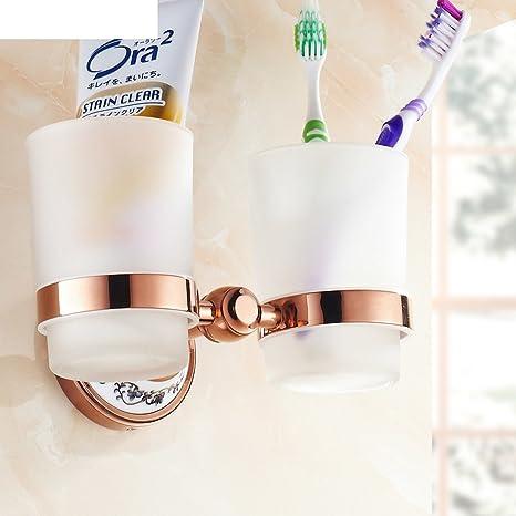 OIU Todo el cobre se levantó para cepillos de dientes de oro/traje de soporte