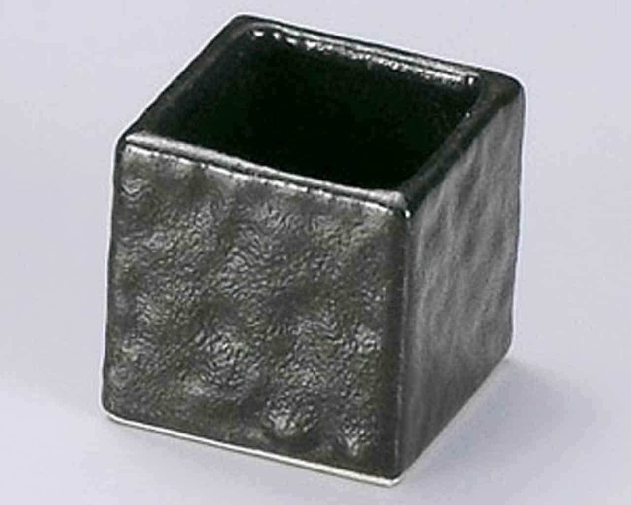 Setoguro 1.8inch Set of 5 Toothpick holders Black porcelain Made in Japan