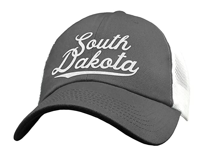 14f4a97a5c1 Amazon.com  State of South Dakota Trucker Hat Baseball Cap - Snapback Mesh  Low Profile Unstructured Sports - SD USA  Handmade