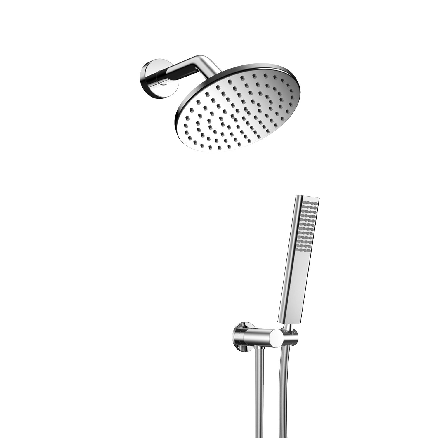 EMBATHER Brass dual-Function Spray Fixed Shower Head Handheld Shower Wand Combo by EMBATHER (Image #1)