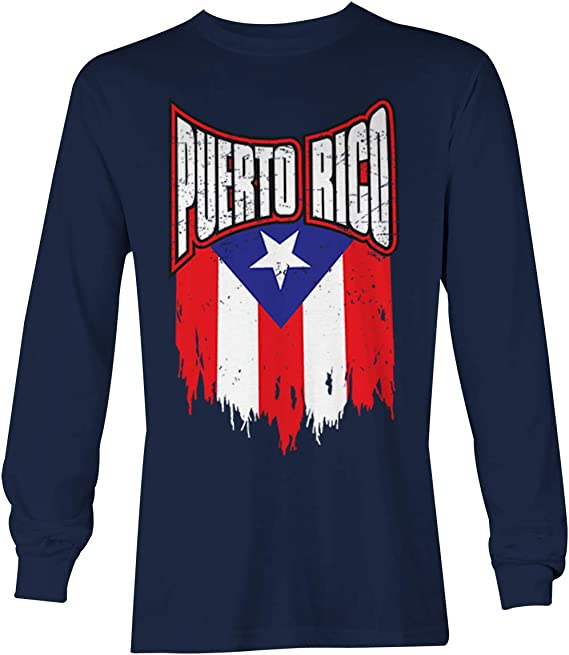 HR Puerto Rico Flag Unisex Boys Girls Long Sleeve Crew Neck Cotton T-Shirts Graphic Shirt for 2-6T Baby
