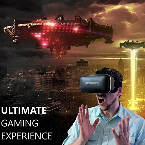 3D VR Headset for iPhone and Android - Universal 360 Virtual Reality Goggles with Blue Blocking Lenses, Touch Button, and Adjustable Strap to Fit Kids, Teens, and Adults - by Imagistra by Imagistra (Image #7)