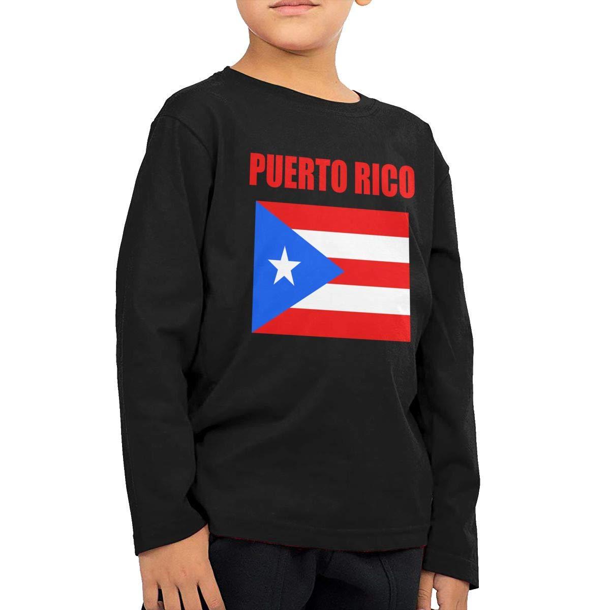 Toddler Puerto Rico Flag ComfortSoft Long Sleeve Shirt