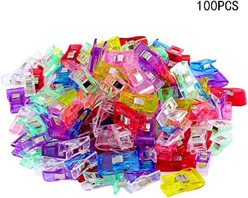 100 PCS Multipurpose Sewing Clips in Different Colours Perfect for Sew Binding,Crafts,Paper Work and Hanging Little Things 61hySSZrP7L