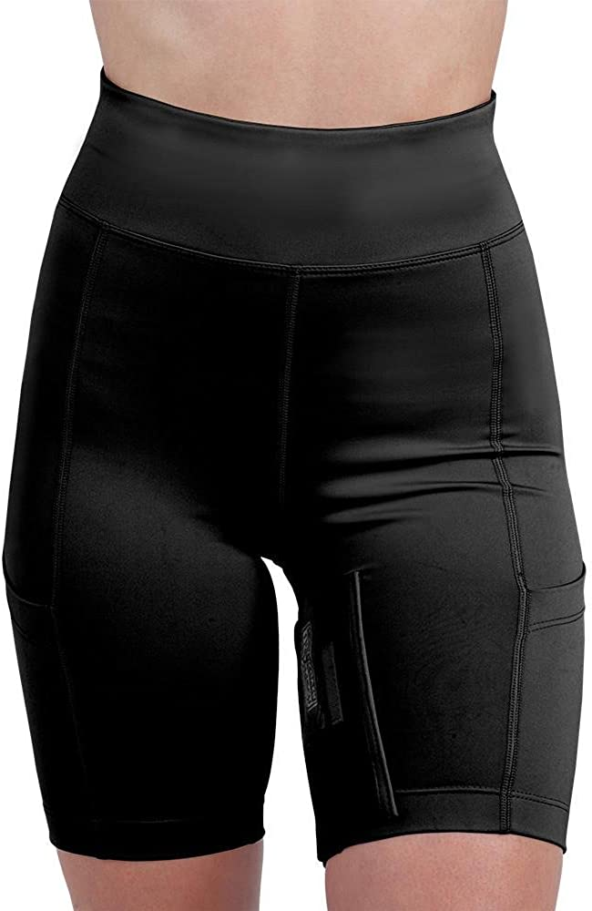 UnderTech Undercover Womens Concealed Carry Thigh Holster Shorts Medium, Black