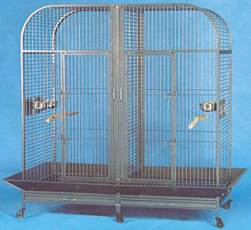 XXLarge Double Dome Top Style Double Parrot Cage With Center Double Divider - 64