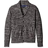Blizzard Bay Men's Shawl Neck Sweater, Grey, Large
