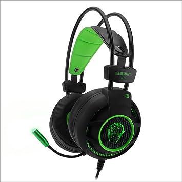 wsg Cascos Auriculares Gaming Gamer para PS4 PC Xbox con Micrófono Micro Portátil Computadoras Mac Estéreo