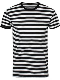 new arrival b63ea 2c955 Männer T-Shirt rot/schwarz gestreift: Amazon.de: Bekleidung