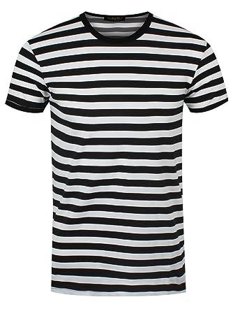 online retailer 2f72d eba8a Männer T-Shirt weiß/schwarz gestreift