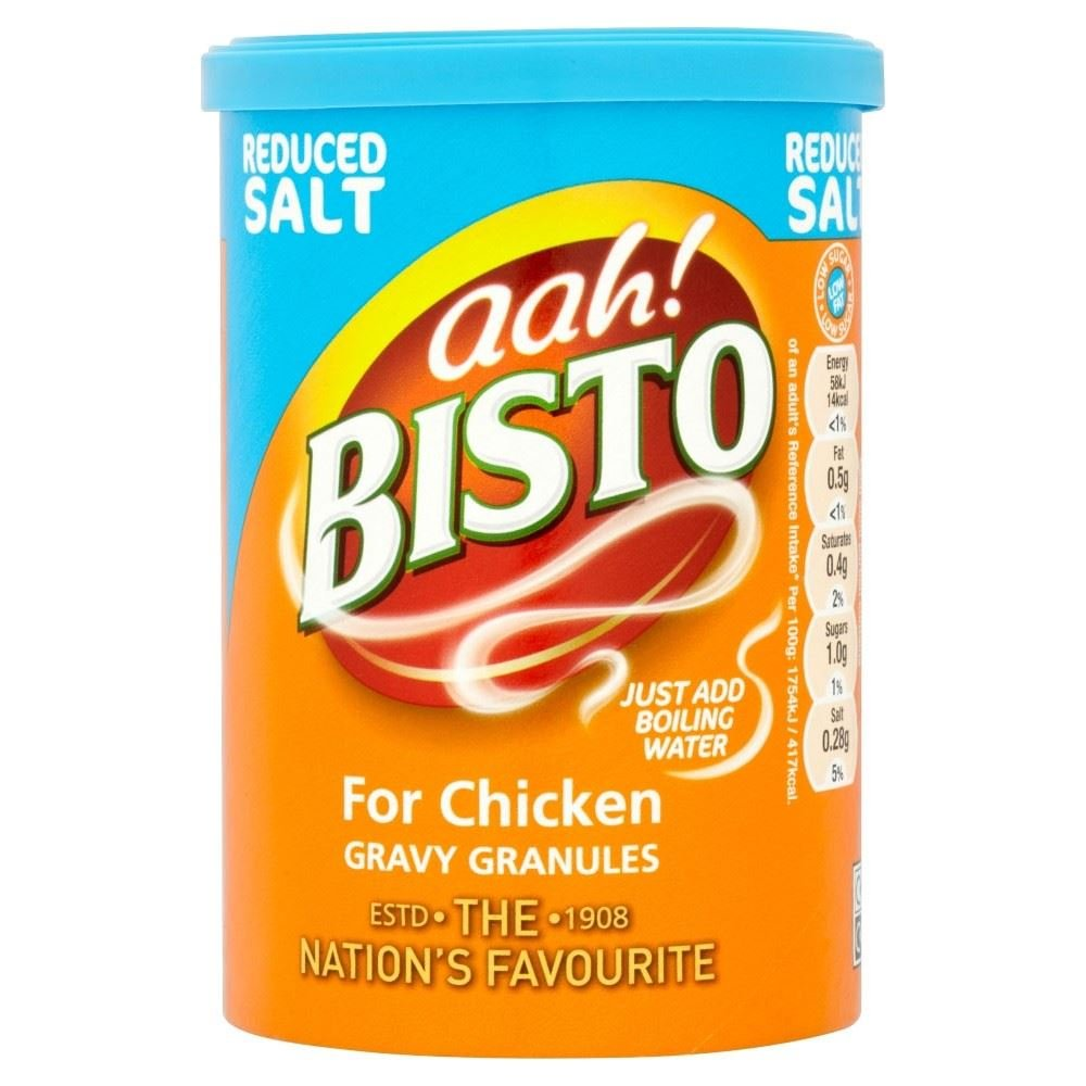 Bisto for Chicken Reduced Salt Gravy Granules (170g) - Pack of 6