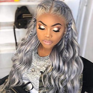 Amazon.com : Silver Grey Human Hair Wigs