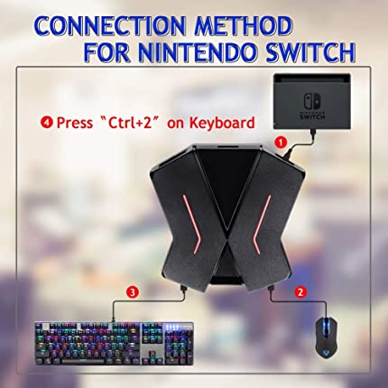 C91 Keyboard and Mouse Adapter for PS4, Xbox One,Switch, PS3,PC