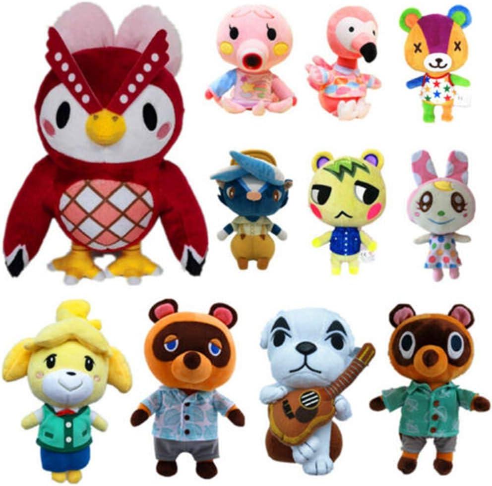 poup/ée de Dessin anim/é de 8,2// 9,8 // 11 Divers r/ôles AIRGONE Poup/ée en Peluche Animal Crossing Marshal id/ée de Cadeaux pour Petit ami