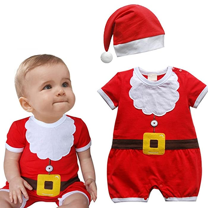 Baby Christmas Outfits, Highpot Baby Boy Girl (9M~2T) Red Romper+Hat ...