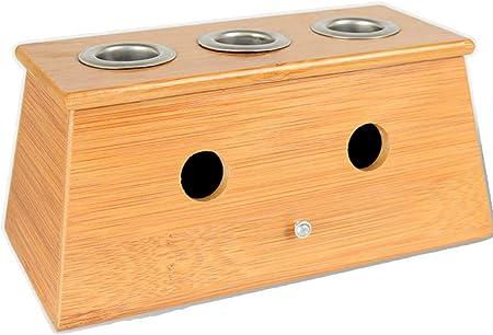 Ai M Moxa Rollo Quemador Caja con único/2 – 3 Agujeros Soporte bambú Moxibustión Caja: Amazon.es: Hogar