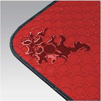 Passform Gummimatte Fussmatte Octagon Rot Mit Rot Schwarzer Bandeinfassung Passend Für Das Von Ihnen Ausgewählte Fahrzeug Siehe Artikelbeschreibung Auto