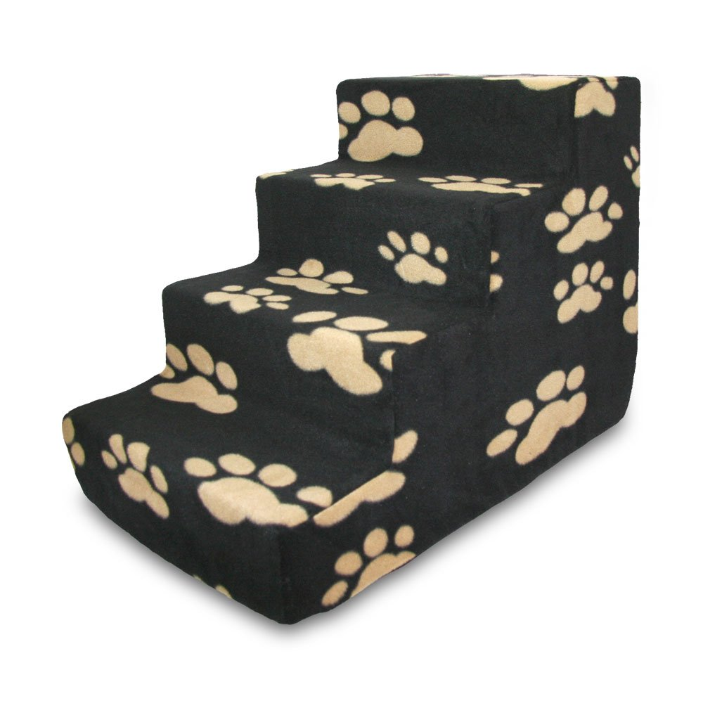 Best Pet Supplies ST200T-S Foam Pet Stairs/Steps 15-Inch Black 4-Step