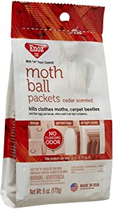 Enoz Moth Ball Packets - Cedar Scented (Case of 6)
