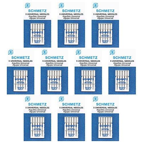 50 Schmetz Universal Sewing Machine Needles -size80/12- Box of10 cards by Schmetz