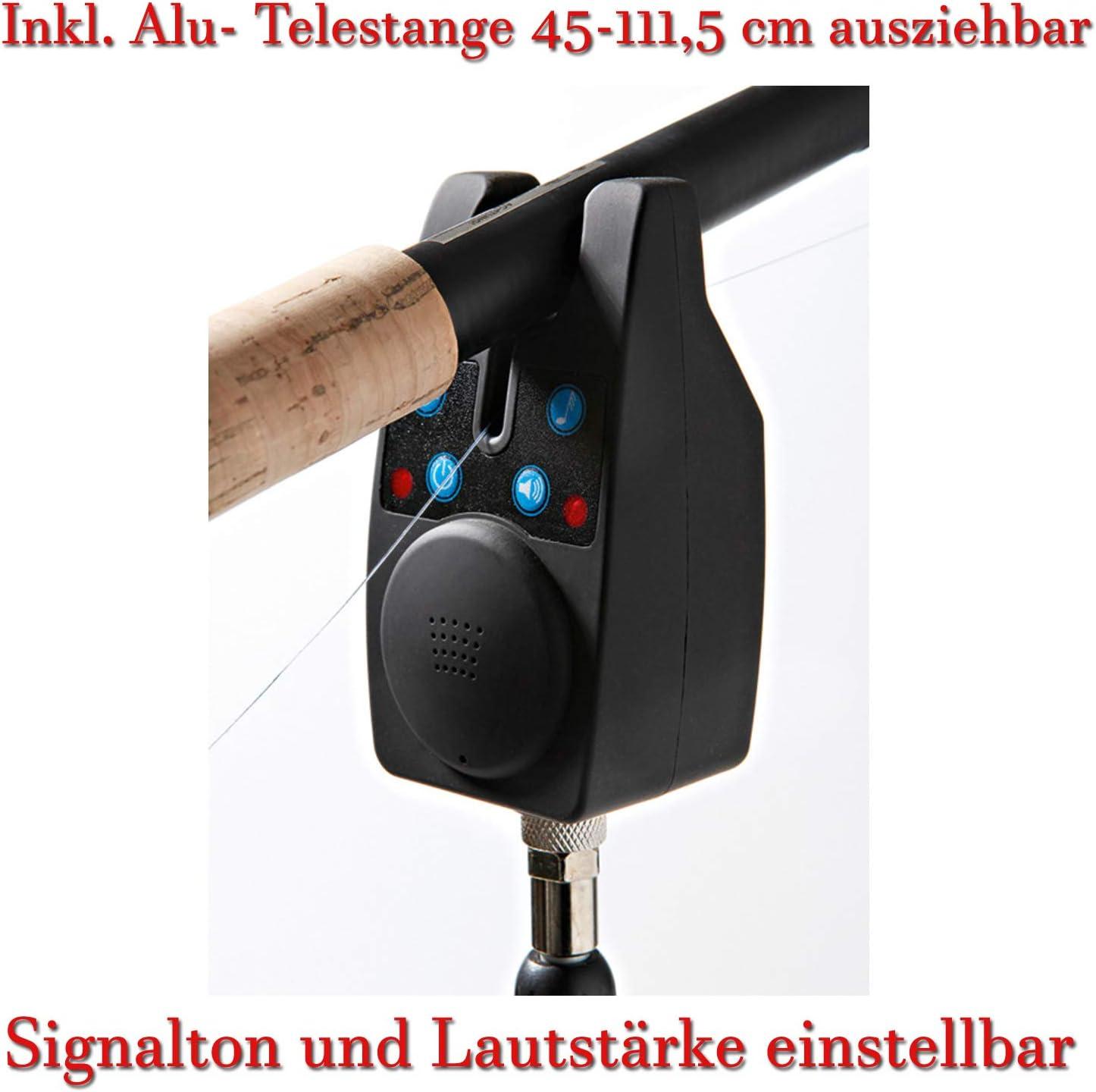 2 x BISSANZEIGER ELEKTRONISCH LED Karpfen AngelnAngel Bissmelder Set