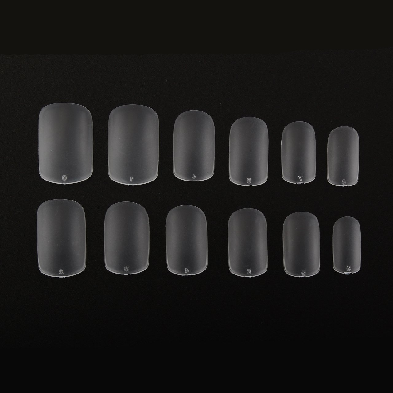 Amazon.com : Makartt 504Pcs Super Thin Nails Tips 0.12mm Clear Full ...