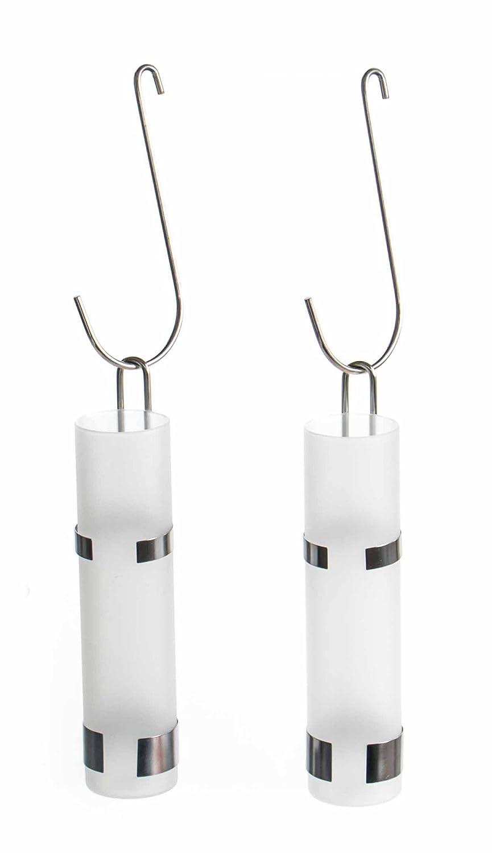 Humidificador Juego de 2para radiador de acero inoxidable y vidrio, Sana de clima, diseño moderno, 3piezas, tamaño aprox. 20x 5cm unbekannt