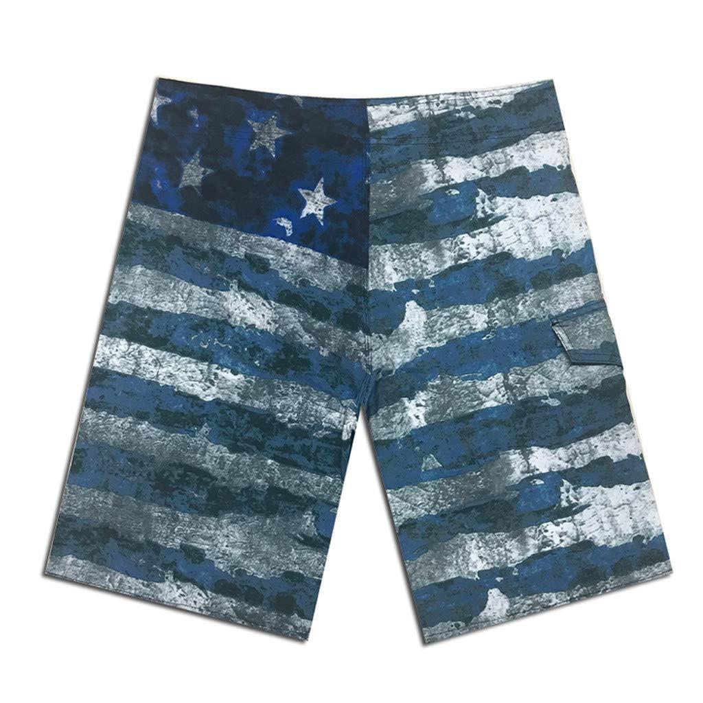 Palarn Sports Pants Casual Cargo Shorts Men Spring Summer Print Trunks Quick Dry Beach Surfing Running Short Pant
