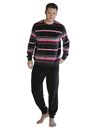 Massana Velvet Mens Pyjamas Winter Carbon, M