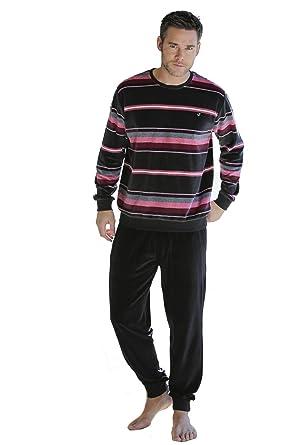 Massana Velvet Mens Pyjamas Winter Carbon, M