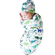 Tronet Newborn Baby Toddler Cartoon Shark Sleeping Bag Sleeping Bag Swaddle+Hat Soft Blanket Kids Sleeping Bag Stroller Wrap (B)